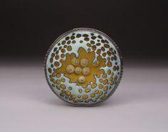 corona    brooch - enamel on copper, sterling silver     Danielle Embry