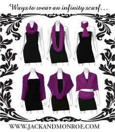 Ways To Wear An Infinity Scarf. www.jackandmonroe.com