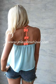 Piace Boutique - Bow  & Tell Tank $21.99 http://www.piaceboutique.com/bow-tell-tank/  #piaceboutique