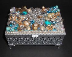 Decorative Arts Other Antique Decorative Arts Antique Jewel Encrested Mini Treasure Chest Cool In Summer And Warm In Winter