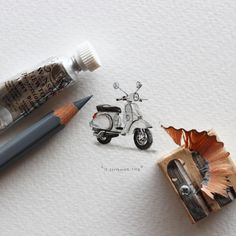 """Miniature Project """"Postcards for Ants"""" by Cape Town artist Lorraine Loots"""