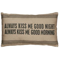 Always Kiss Pillow in Brown