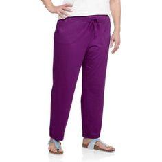 Danskin Now Women's Plus-Size Patch Pocket Pant Petite, Size: 4XP, Purple