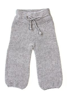 Baggy Children Knitted Pants - Cloud Grey