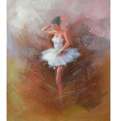 Ballerina is a hand finished canvas oil painting. This canvas art utilizes the color white in the ballerina's garment to draw the viewer in to admire and adore. Given the treatment it deserves, the so