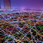 Light Painting with Roomba Vacuum Cleaners