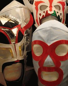 Mexican wrestler masks, shipped promptly to the US and worldwide, via Priority or Express Mail. 'Technicos' and 'Rudos' alike, (good guys and bad guys). Well constructed with foam lining and lace-up closure. Good quality reproduction masks direct from Mexico.