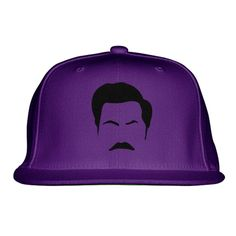 Ron Swanson Embroidered Snapback Hat