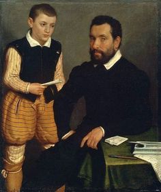 Portrait of a Man and a Boy (Count Alborghetti Son (?) by Giovanni Battista Moroni circa 1550 - Museum of Fine Arts, Boston