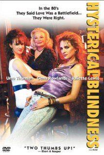 2002 - Hysterical Blindness. Película para tv protagonizada por Uma Thurman ,Juliette Lewis y Gena Rowlands. Ambientada en los 80 cuenta las historia de dos mujeres que aún se creen adolescentes.