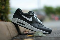 Nike Air Max 1 Leather (Black, White & Grey)