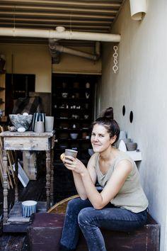 Bridget Bodenham in her studio