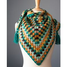 Crochet Granny Square Ideas Ewe Ewe Yarns Wearever Wrap PDF Crochet Pattern - Online yarn store for knitters and crocheters. Designer yarn brands, knitting patterns, notions, knitting needles, and kits. Shop online or call Crochet Shawls And Wraps, Crochet Scarves, Crochet Clothes, Granny Square Crochet Pattern, Crochet Granny, Crochet Patterns, Knitting Patterns, Granny Stripes, Granny Squares