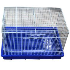 Iconic Pet - Rabbit Cage - Size : 22x13.5x14.5The Rabbit Cage is featured with white mesh caging and a blue removable bottom pan for easy cleaning. The Rabbit Cage also consists of a decent height, allowing your pet to sit up and stretch without touching the roof.The cage is large enough to hold food bowls, water bottle, and plenty of toys.The wall and Roof are in white color. Bottom in Blue color.. At Home > Pet Care. Weight: 10.00