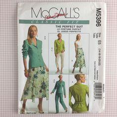 Uncut McCalls 5396 Pattern Misses Jacket Skirt Pants Suit 14 16 18 20 22 Plus #McCalls