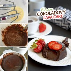 Lava Cakes, Whipped Cream, Chocolate Fondue, Fondant, Healthy Recipes, Healthy Food, Muffin, Paleo, Pudding