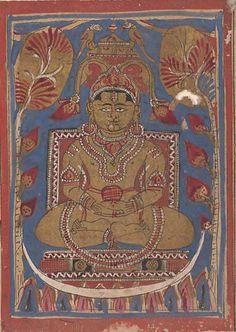 Mahavira Sitting at the Top of the Universe: Folio from a Kalpasutra Manuscript