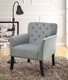 Grey Tufted Back Accent Chair - Coaster 902144