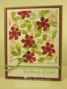 Stamp With Sandy: Faux Silk Step-by-Step, Stampin' Up