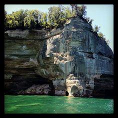 #pictured #rocks #boat #tours #munising #michigan #awesome #lakesuperior - @mle10- #webstagram