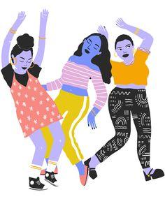 Dancing Girls   Vesna Asanovic Illustration