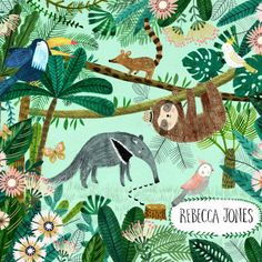 tropical illustration by Rebecca Jones