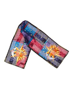 Take a look at this Black Sun & Moon Silk Scarf today!