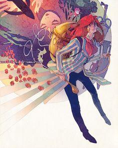 "Yaphleen's Studio Ghibli Tribute Illustrations: ""Fujimoto"" Ponyo (Unfinished)"