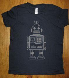Robot Shirt  Retro Robot Kids T Shirt  6 Colors by redbrickwall, $15.95