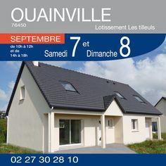 #HabitatConcept vous invite à venir découvrir ce pavillon à OUAINVILLE (76450) - Lotissement les Tilleuls. Samedi 7 et Dimanche 8 Septembre. #OPO