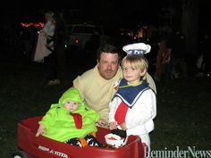 Ghostbuster hubby, stay puft marshmallow man, and baby Slimer