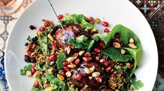 Pomegranate Molasses Chicken with Bulgur Salad Recipe | Bon Appetit