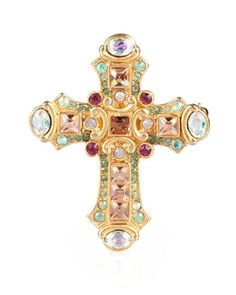 """""""Christian"""" Cross Pin by Jay Strongwater at Neiman Marcus."""