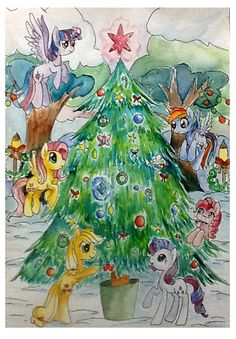 christmas tree by mapony240.deviantart.com on @DeviantArt