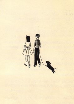 Vintage dachshund illustration from Let's Go to the Bank (1957) -- more doxie illustrations at my blog.