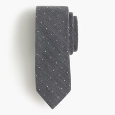 English wool-silk tie in polka dot