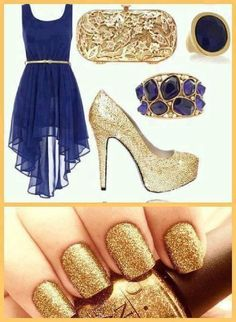 blue and gold inspiration