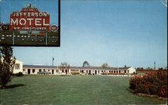 Warrenton VA Jefferson Motel Postcard