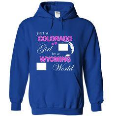 Best gift - Just a Colorado Girl in a Wyoming World T-shirt/mug BLACK/NAVY/PINK/WHITE M/L/XL/XXL/3XL/4XL/5XL