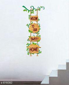 Decorative Stickers Classy PVC Wall Sticker  *Material* PVC  *Size* 61 cm x 120 cm  *Description* It Has 1 Piece Sweet Home Wall Sticker  *Sizes Available* Free Size *   Catalog Rating: ★3.9 (117)  Catalog Name: Decorative PVC Wall Stickers Vol 5 CatalogID_69063 C127-SC1267 Code: 781-616082-