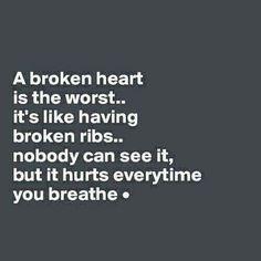 Damn this broken heart.