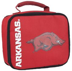 [[start tab]] Description Keep your food cold or hot until lunch with this Licensed Arkansas Razorbacks Sacked Lunch Cooler! With insulated PVC lining, your food with stay at the desired temperature u
