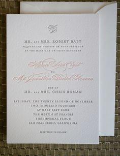 wedding invitation; Arrowood Photography