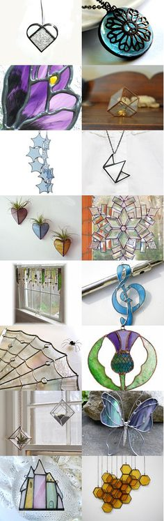 Stained Glass Beauty suncatchers panels jewelry 3D art