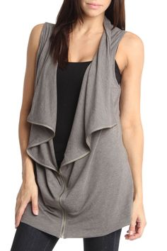 Sleeveless Grey Cardigan