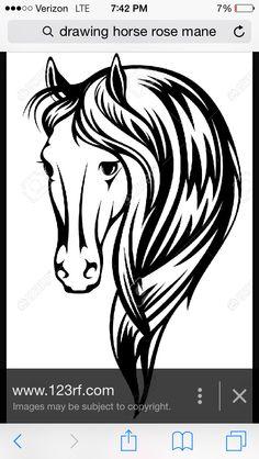 Afbeeldingsresultaat voor black and white horse drawings Horse Head Drawing, Horse Drawings, Cowgirl And Horse, Horse Love, White Horse Images, Tatoos, Horse Tattoos, Horse Sketch, Glass Engraving