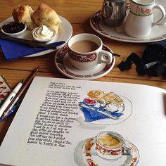 Devonshire tea! ohhhh, how appetizing look those scones!!!