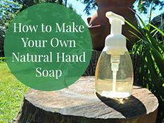 DIY Natural Alternative for Anti-Bacterial Hand Soap | How to make vegan hand soap.