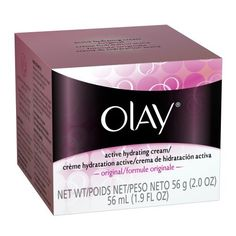 Olay Active Hydrating Cream ? Original Facial Moisturizer 2 Oz by Olay. $9.99. Helps with these face concerns: Dry/Flaky Skin, Rough Patches. Benefits: Non-comedogenic. For the following skin types: Dry, Normal, Oily, Combination/Oily. Facial cream replenishes skin with moisture and soothes dryness without leaving behind a greasy feel.. Olay Original Active Hydrating Cream moisturizer penetrates quickly, providing your skin with an immediate surge of active moisture to soo...