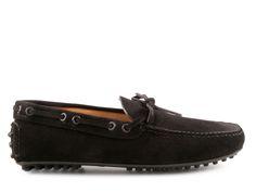 Mocassini Car Shoe uomo in pelle Scamosciato nero 2